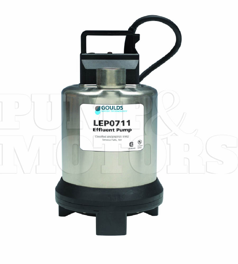 Goulds LEP0711AF 3/4HP Submersible Effluent Pump 115V Auto